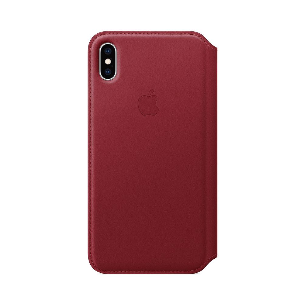 Husa iPhone XS Max Apple Leather Folio Red
