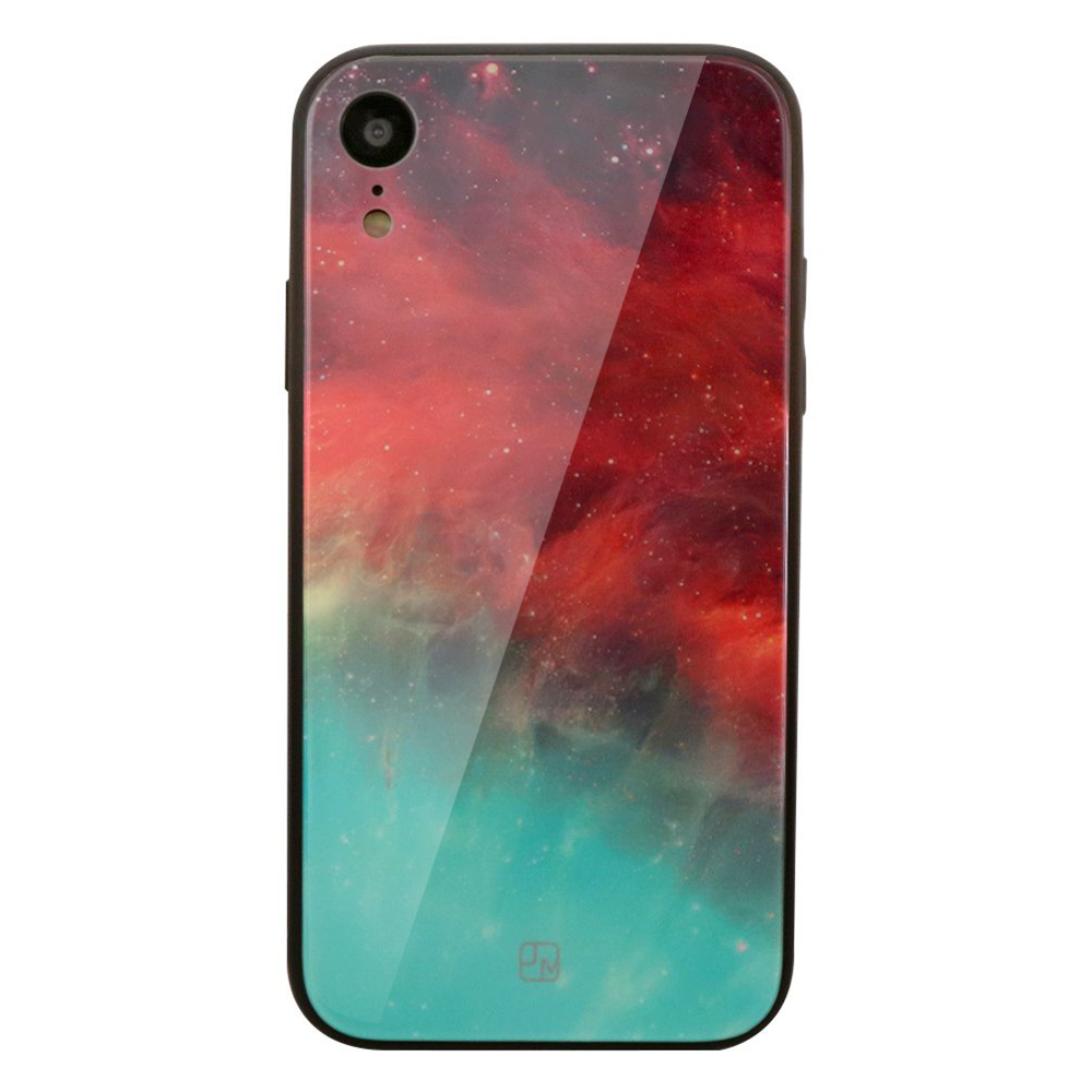 Carcasa Sticla iPhone XR Just Must Glass Print Nebula