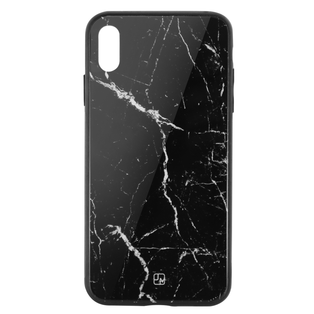 Carcasa Sticla iPhone XS Max Just Must Glass Print Black Marble
