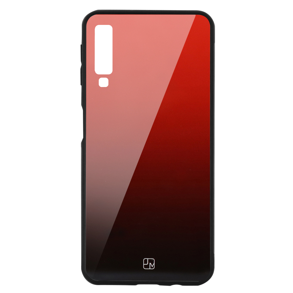 Carcasa Sticla Samsung Galaxy A7 (2018) Just Must Glass Gradient Red-Black