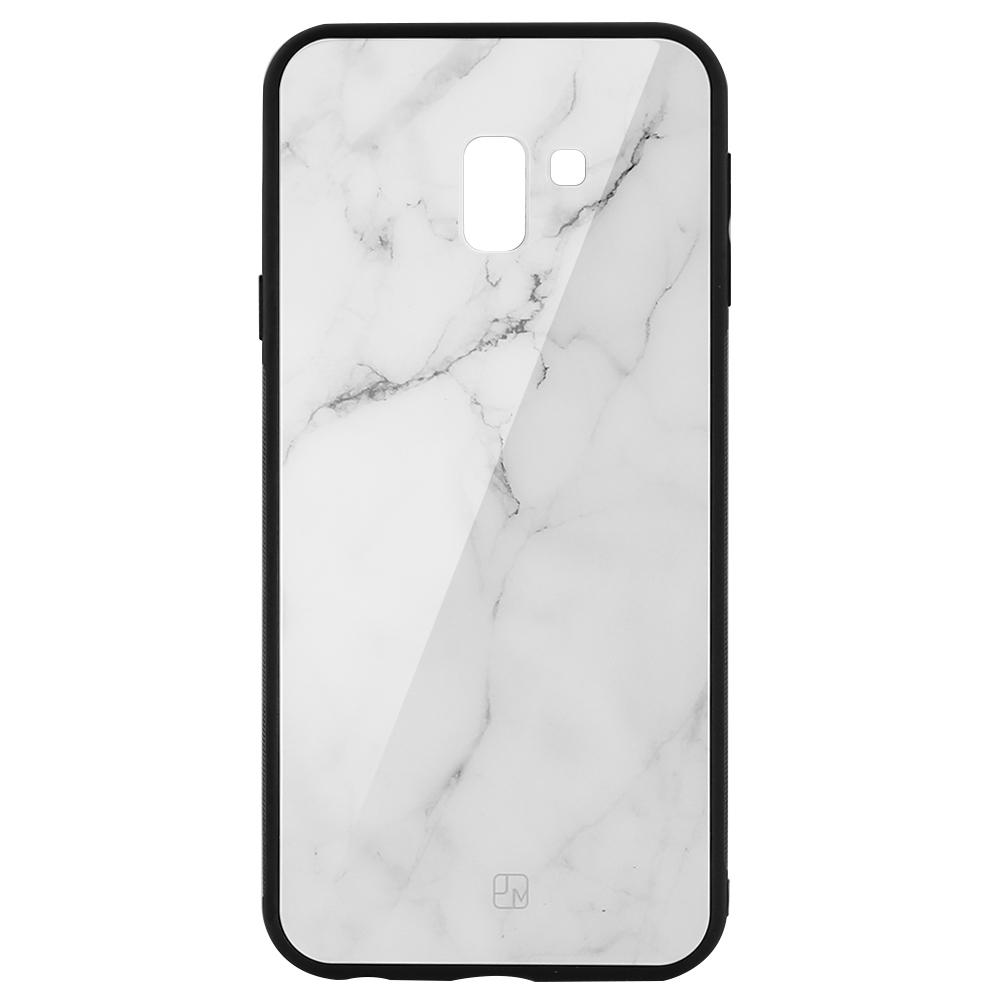 Carcasa Sticla Samsung Galaxy J6 Plus Just Must Glass Print White Marble