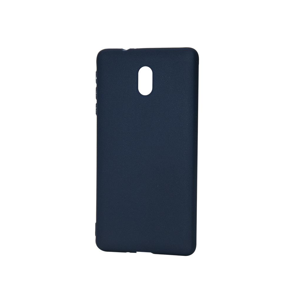 Husa Nokia 3 Lemontti Silicon Silky Albastru Inchis