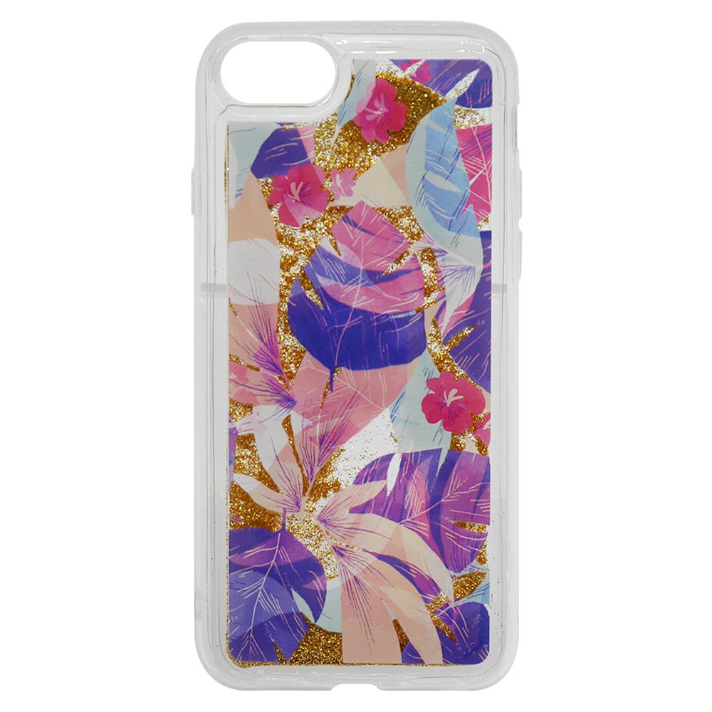 Carcasa iPhone 8 / 7 Lemontti Liquid Sand Floral Sunset