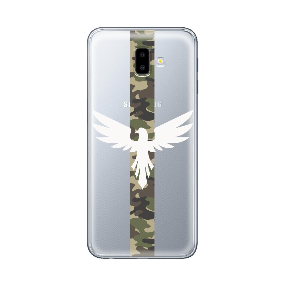 Husa Samsung Galaxy J6 Plus Lemontti Silicon Art Army Eagle