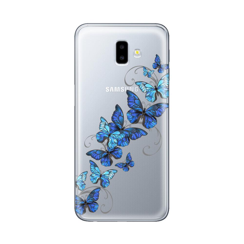 Husa Samsung Galaxy J6 Plus Lemontti Silicon Art Butterflies