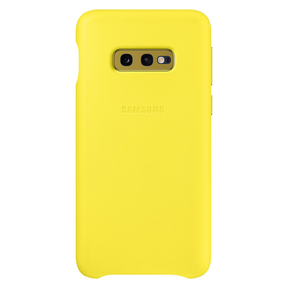 Carcasa Samsung Galaxy S10e G970 Samsung Leather Cover Yellow