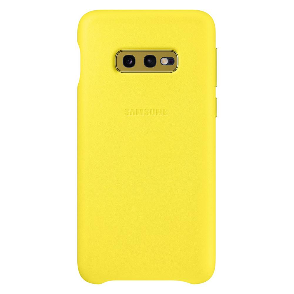 Carcasa Samsung Galaxy S10e G970 Samsung Leather Cover Yellow