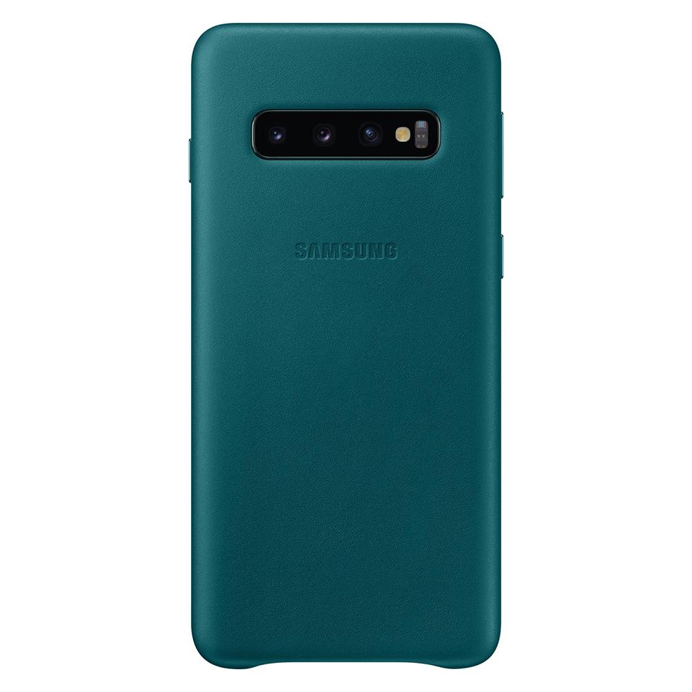 Carcasa Samsung Galaxy S10 G973 Samsung Leather Cover Green