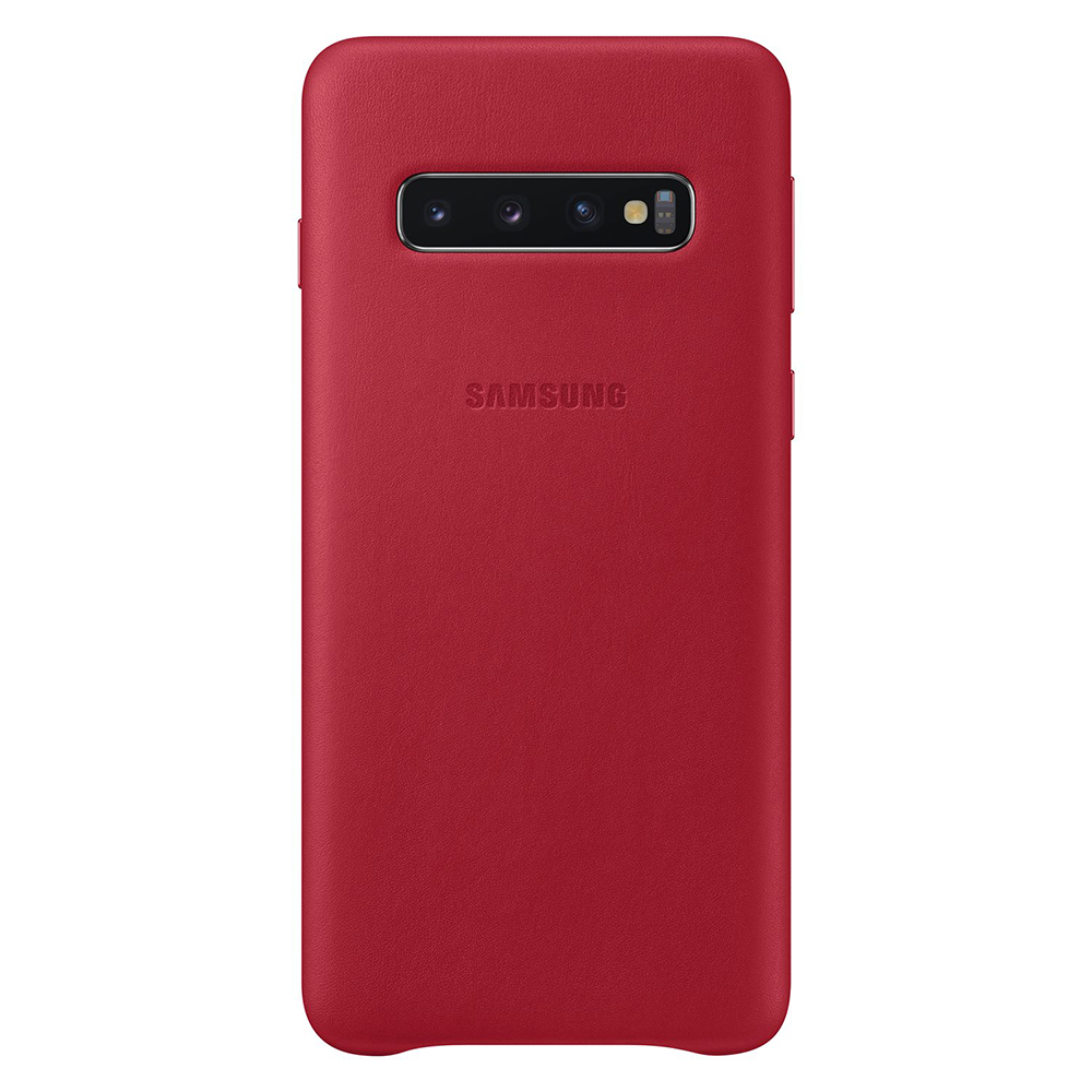 Carcasa Samsung Galaxy S10 G973 Samsung Leather Cover Red