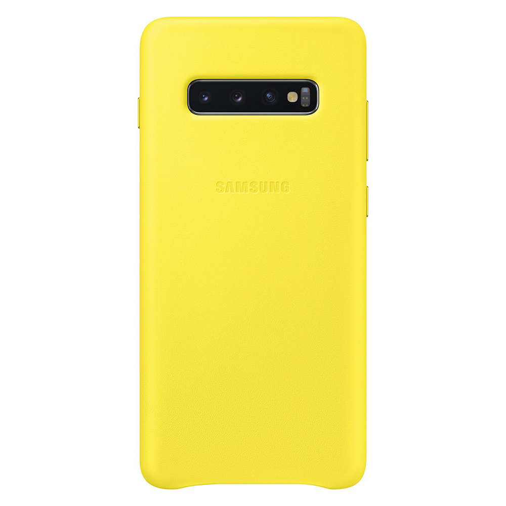Carcasa Samsung Galaxy S10 Plus G975 Samsung Leather Cover Yellow