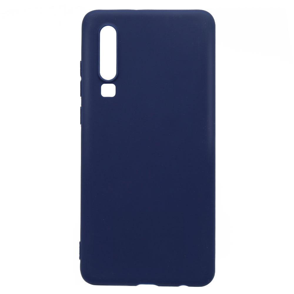 Husa Huawei P30 Lemontti Silicon Silky Albastru Inchis