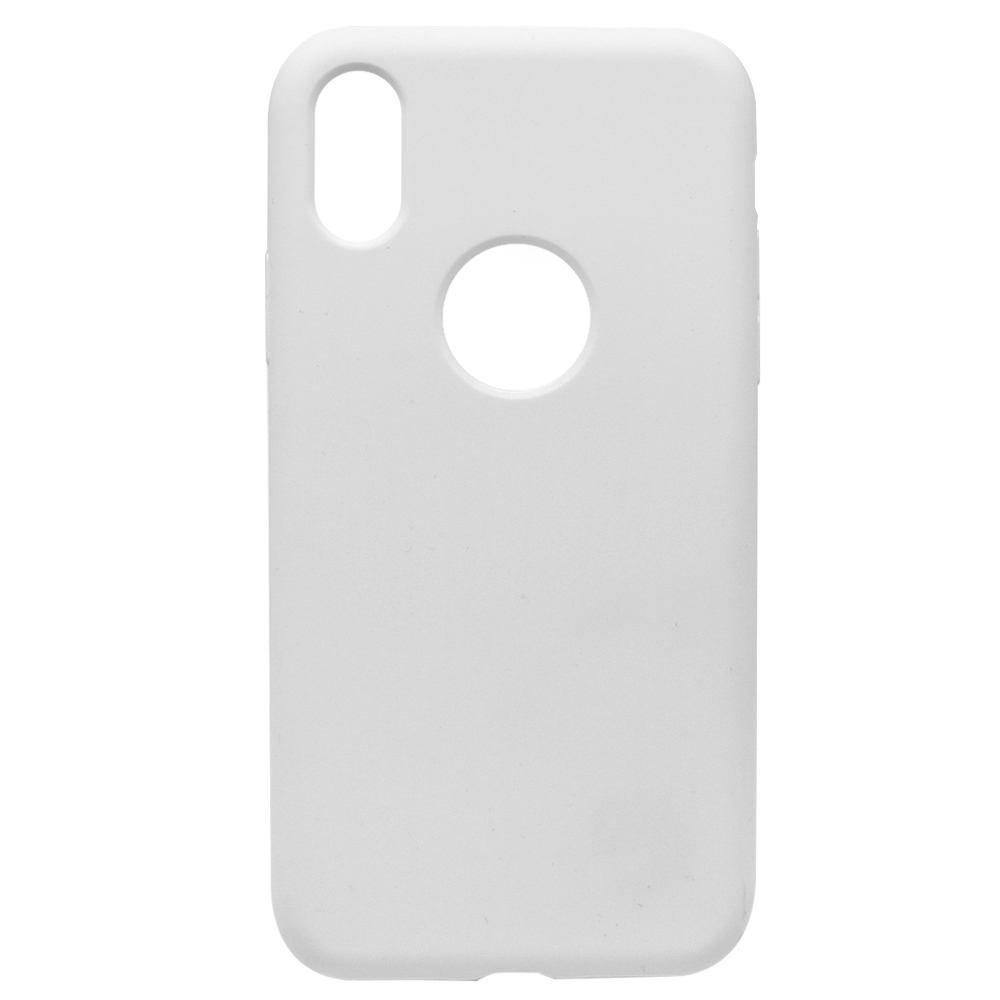 Husa iPhone X / XS Meleovo Liquid Silicone Jacket White