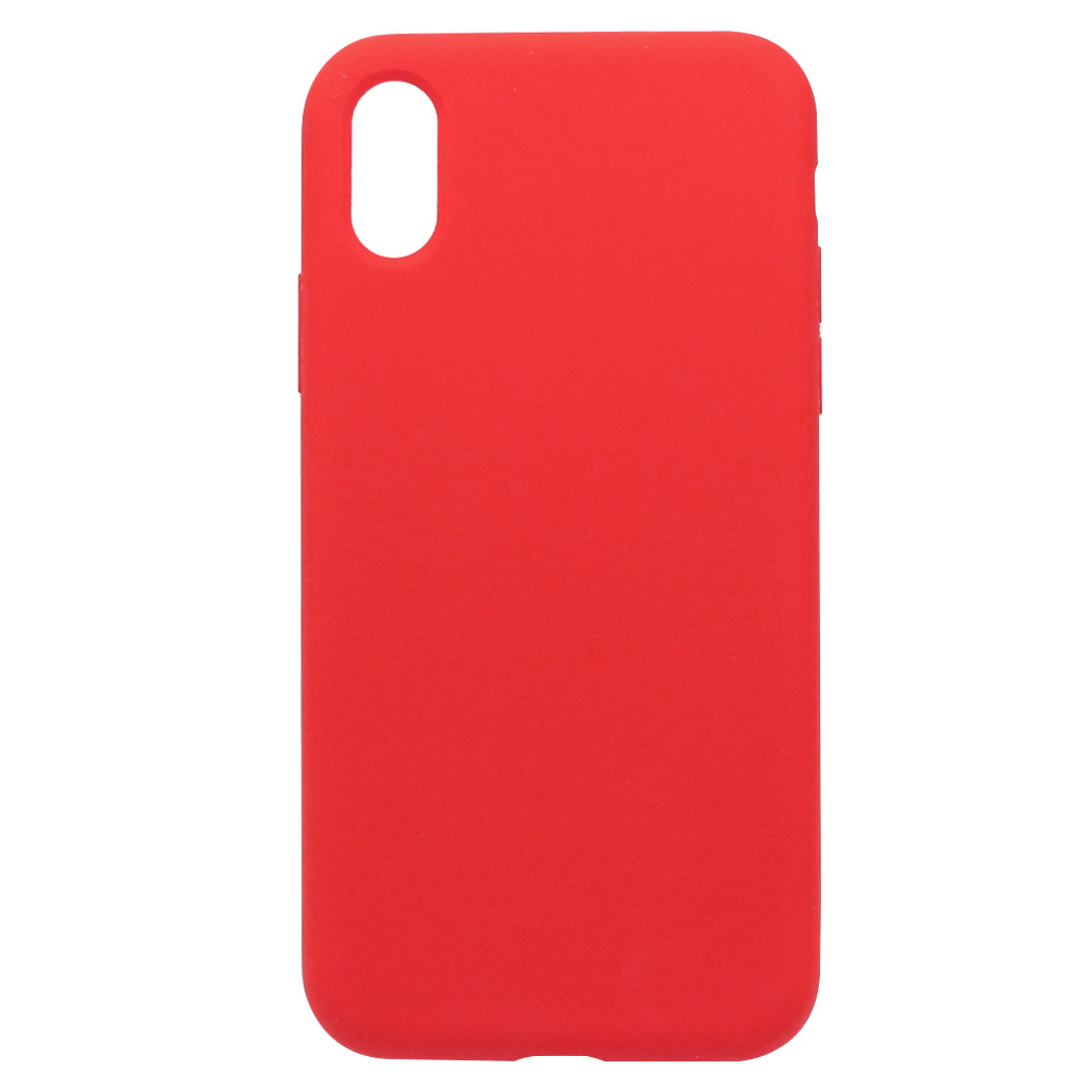 Carcasa iPhone XS Just Must Defense Liquid Silicone Red