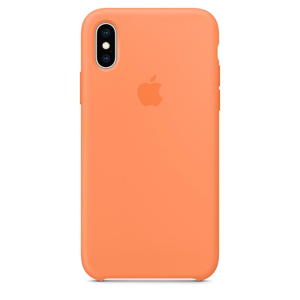 Husa iPhone XS Apple Silicon Papaya