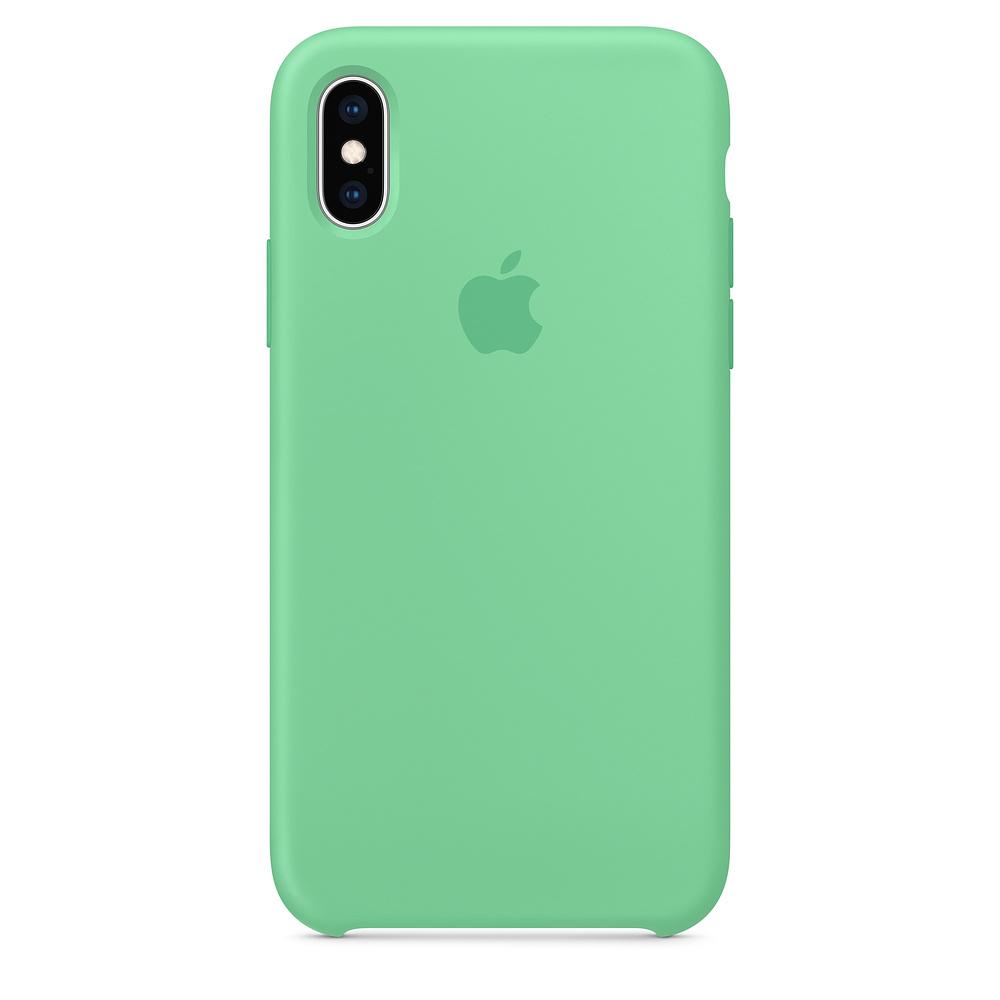 Husa iPhone XS Apple Silicon Spearmint