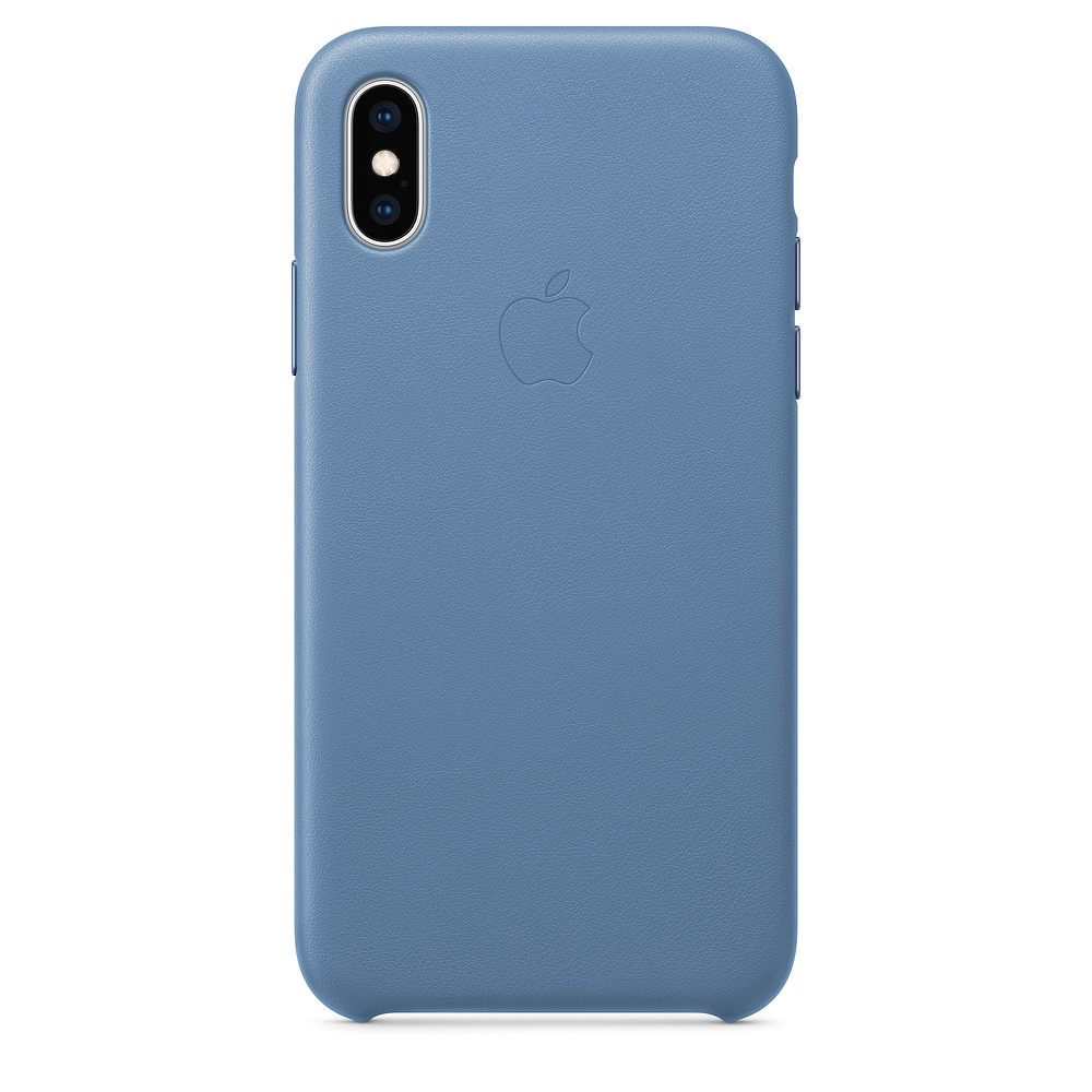Carcasa iPhone XS Apple Leather Cornflower