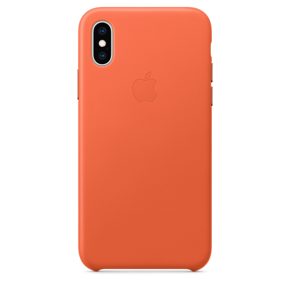 Carcasa iPhone XS Apple Leather Sunset