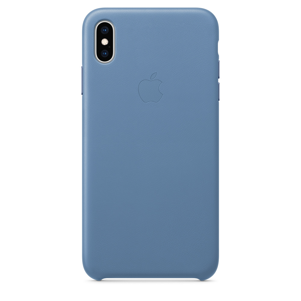 Carcasa iPhone XS Max Apple Leather Cornflower