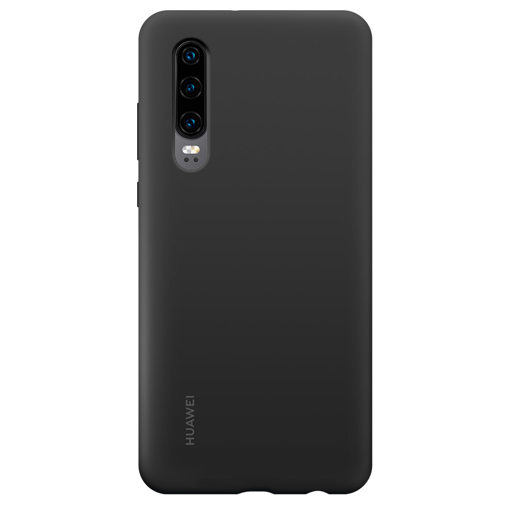 Husa Huawei P30 Huawei Silicon Car Case Black
