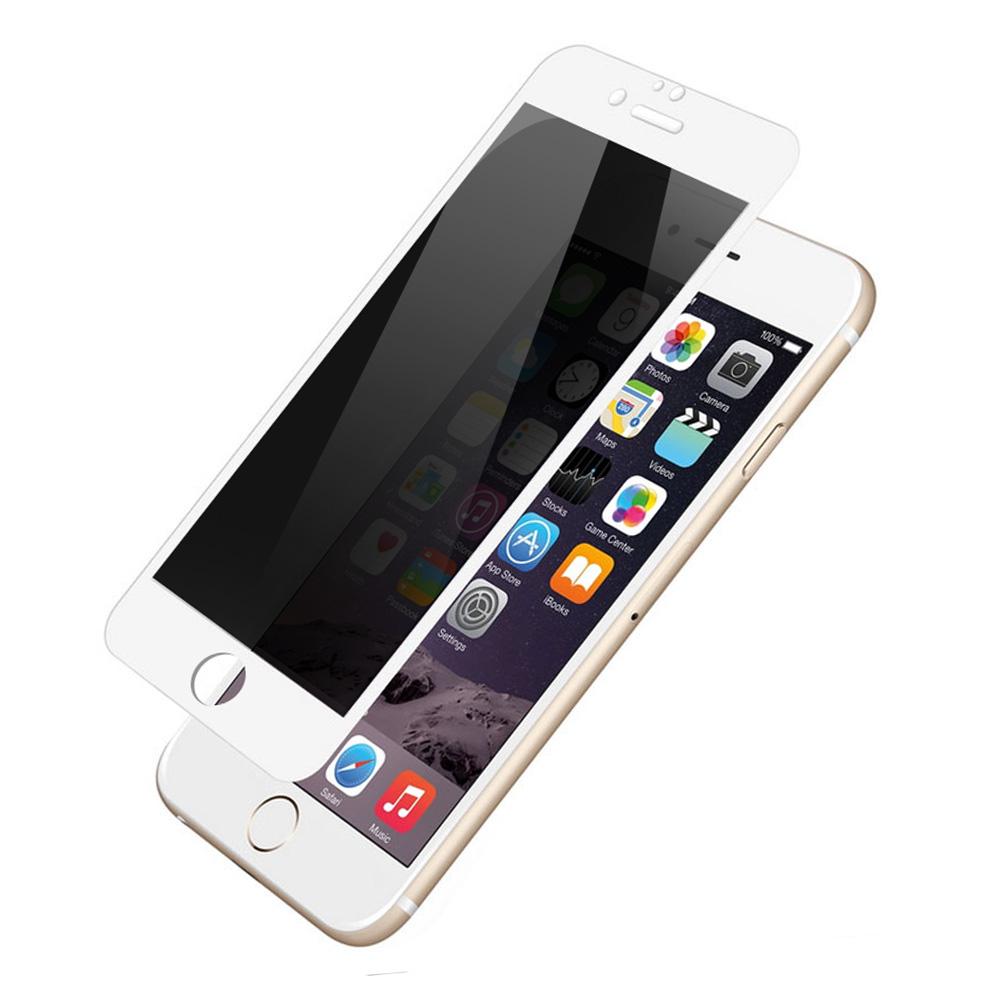 Folie iPhone 7 Devia Frame Sticla Temperata Privacy White
