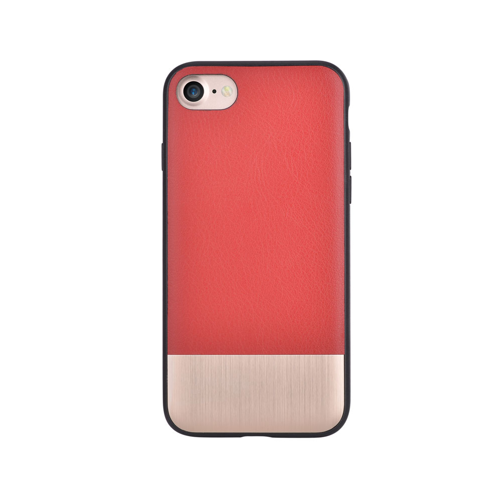Carcasa iPhone 8 / 7 Devia Commander Red (piele naturala, margini flexibile)