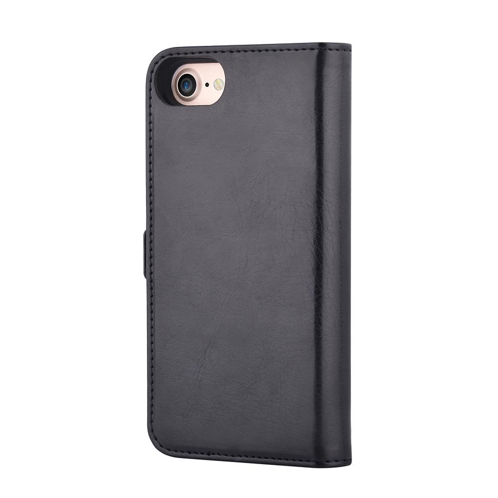 Husa iPhone 8 / 7 Devia Magic 2 in 1 Black (piele book cu carcasa magnetica detasabila)