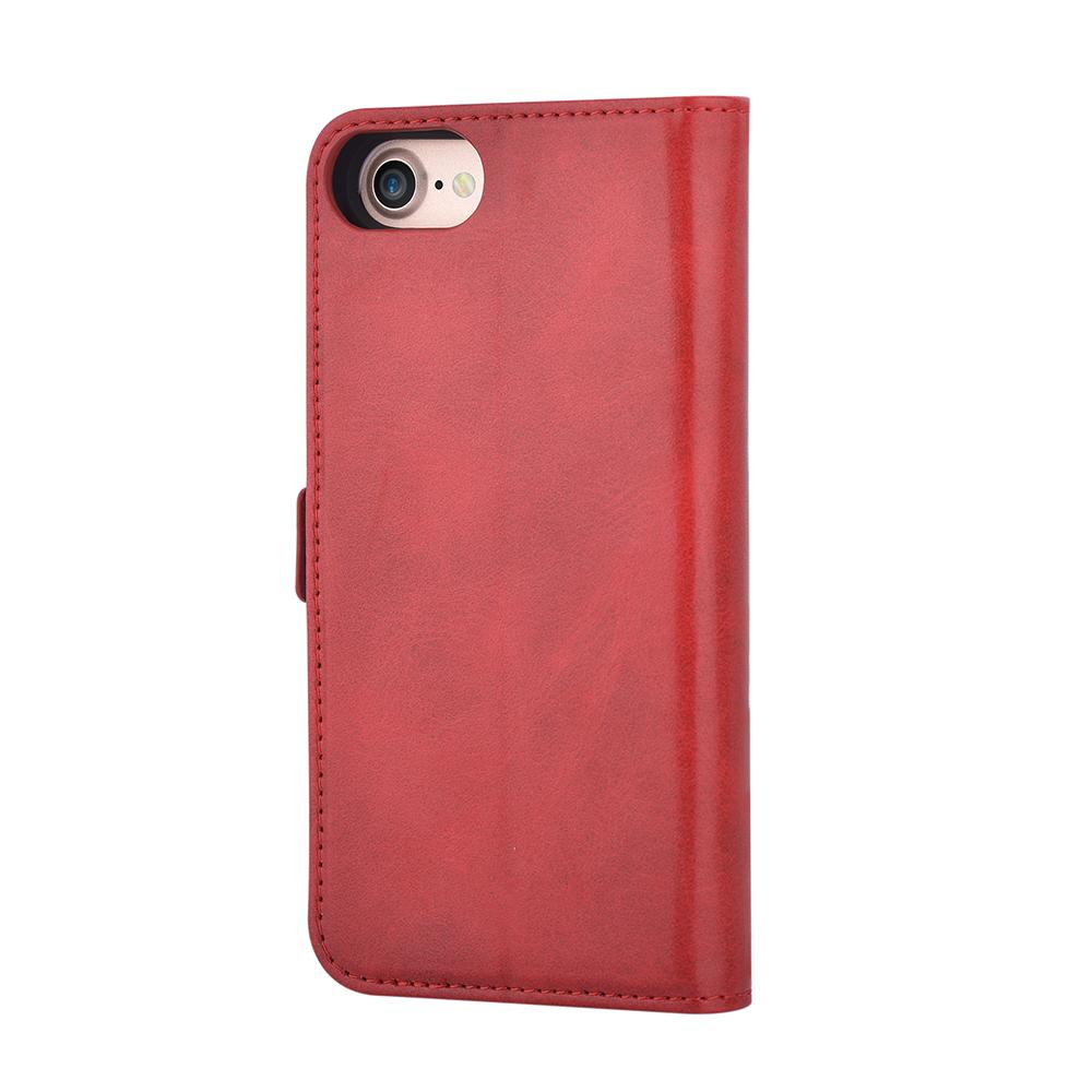 Husa iPhone 8 / 7 Devia Magic 2 in 1 Red (piele book cu carcasa magnetica detasabila)